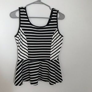 ✨3 for $20 FOREVER 21 STRIPED PEPLUM CROP TOP